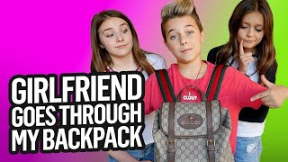 GIRLFRIEND REACTS to WHATS in my GUCCI BACKPACK  **Gone Wrong** **Piper Rockelle** Gavin Magnus