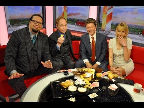 Penn and Teller perform magic with muffins - BBC Breakfast