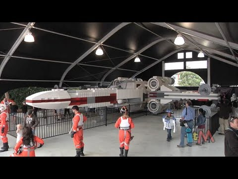 Life size LEGO Star Wars X-wing Starfighter unveiled at LEGOLAND California