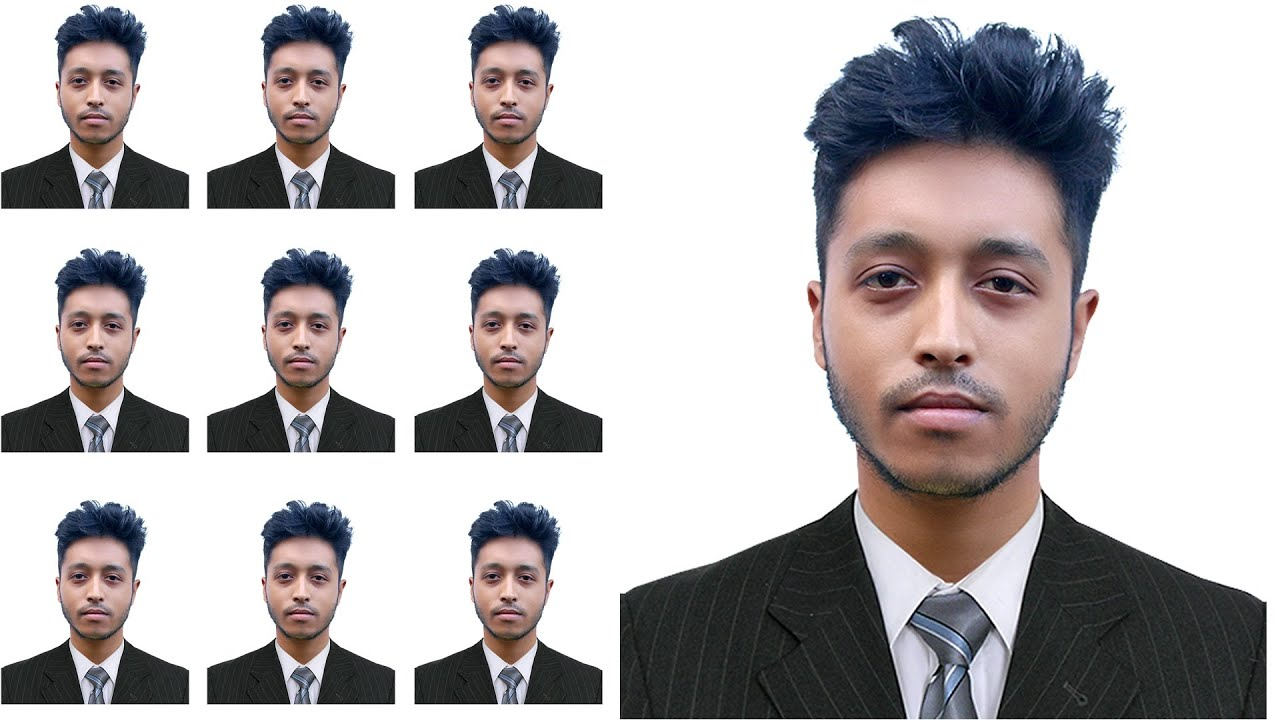 Making passport size photo