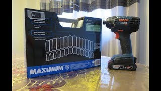 Maximum Impact Socket Set with Bosch 25618 Impact Driver
