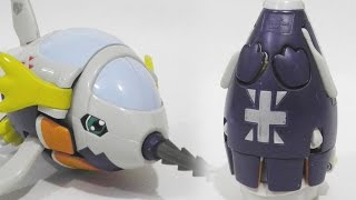 [Quick]Submarimon(サブマリモン)to Digi-Egg/Digimental of Reliability/Honesty(誠実のデジメンタル)-Bandai Toy Review