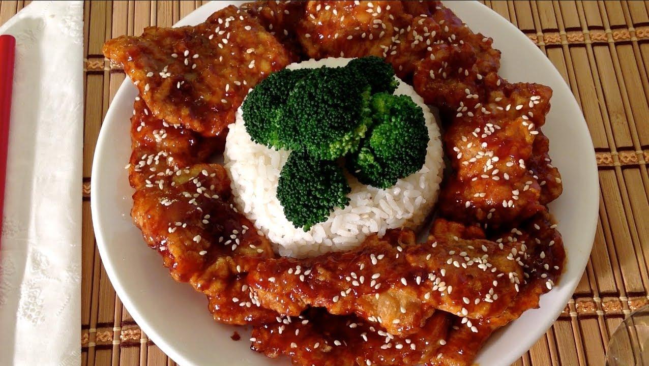 Asian chop pork recipe was standing