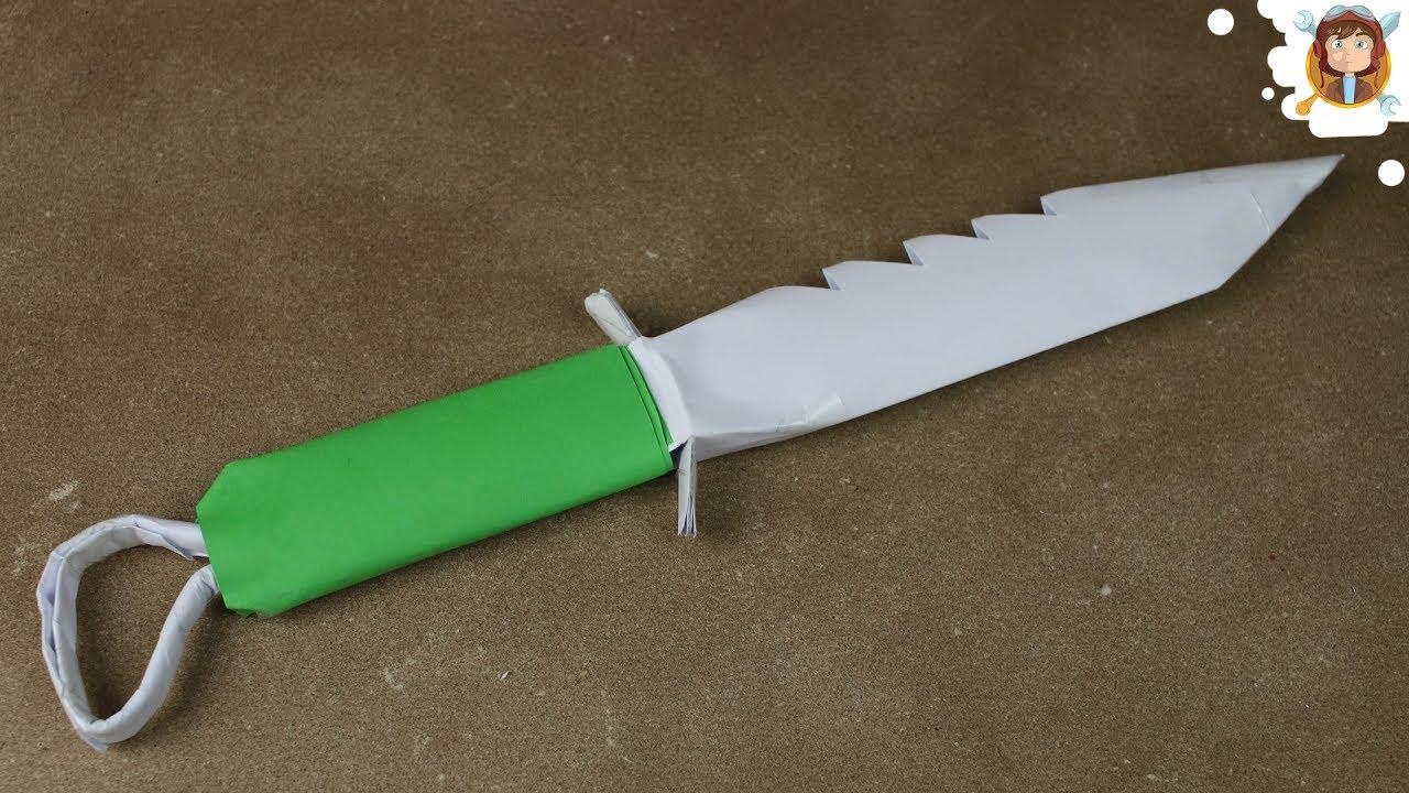 Как сделать из бумажные ножи