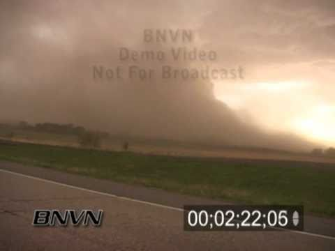 5/9/2004 Dust Storm and Severe Storm Stock Video