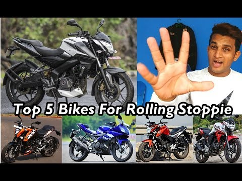Top 5 Bikes For ROLLING STOPPIE in INDIA -Duke200 | PulsarNS200 | R15 V2 | Hornet160 | Fz V2