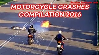 Motorcycle Crash Compilation 2016 (Part 3)