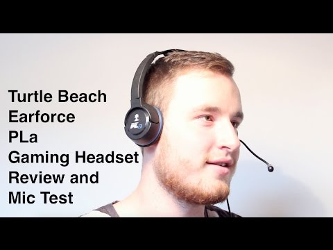 Turtle Beach Earforce PLa Gaming Headset Review and Mic Test