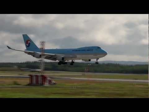 Pure Avaiation (Oslo Airport Gardermoen) Lufthansa x2, Korean Air 747, Heli-ops, SAS A319!