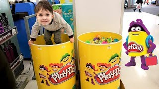 Shopping for Play Doh at the store!