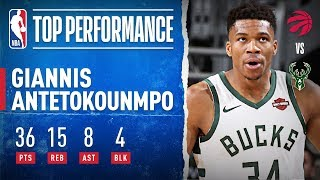 Greek Freak Has HUGE Game With 36 PTS & 15 REB