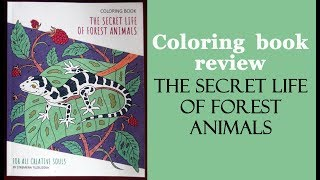 Secret Life Of Forest Animals Coloring Book Review