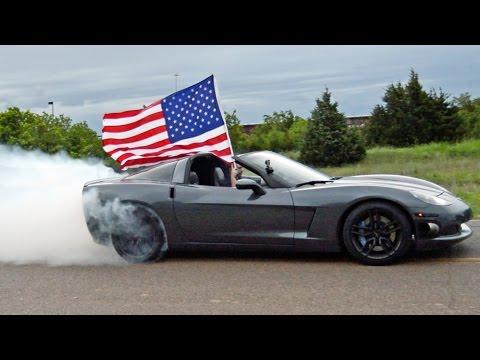 4th Of July Corvette Burnout - 'MERICA!!!
