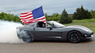 4th of July Corvette Burnout - MERICA!!!