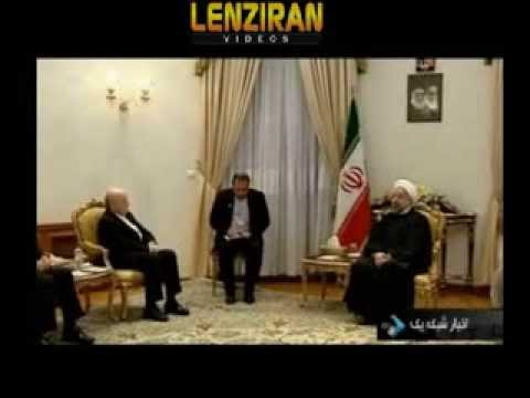 Fifa president  Sebb Blatter visit Hassan Rohani  , while women are banned to enter stadiums !