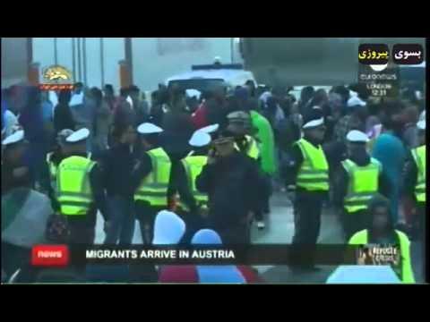 ورود اولین قطار مهاجران سوری از مجارستان به مونیخ آلمان