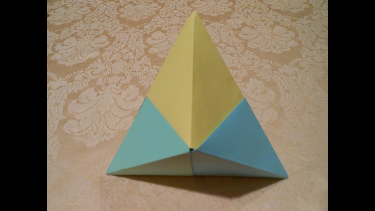 how to make an origami 3d triangle hd youtube. Black Bedroom Furniture Sets. Home Design Ideas