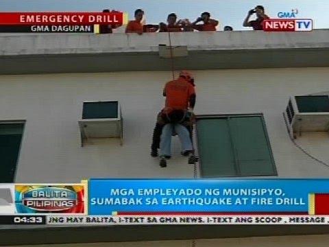 Mga empleyado ng munisipyo ng Calasiao, Pangasinan, sumabak sa earthquake at fire drill