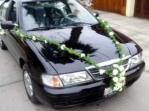 Autos para novios y eventos sociales lima peru youtube - Decoracion interior coche ...
