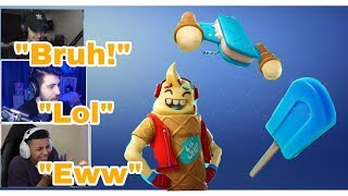 STREAMERS REACT TO *NEW* LIL WHIP SKIN (Fortnite funny and wtf moments)