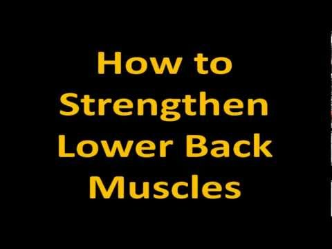 How to Strengthen Lower Back Muscles