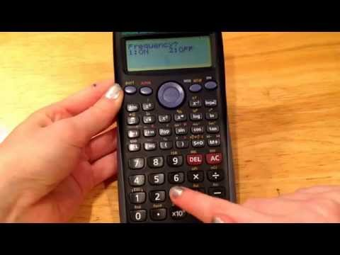 How to find mean and standard deviation on CASIO fx-300ES