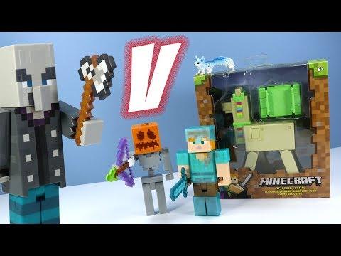 Minecraft Survival Mode Vindicator and Spitting Llama Action Figures Mattel
