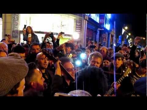 Bono and Glen Hansard - Christmas (Grafton Street Christmas Eve 2012)