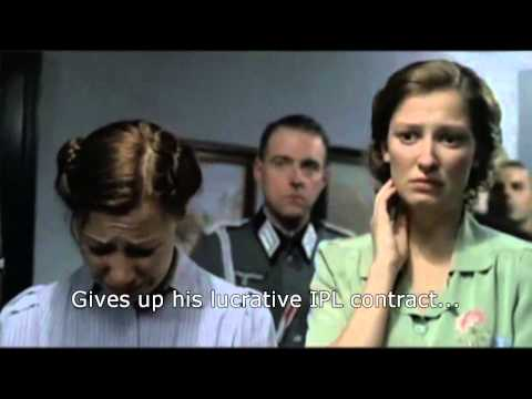 Hitler finds out that Andrew Strauss won't select Kevin Pietersen