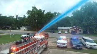 Firefighter gets creative for gender reveal