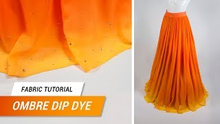 Fabric Tutorial - Ombre Dip Dye on synthetic fabrics