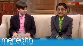 Meredith Chats With Two Child Geniuses!   The Meredith Vieira Show