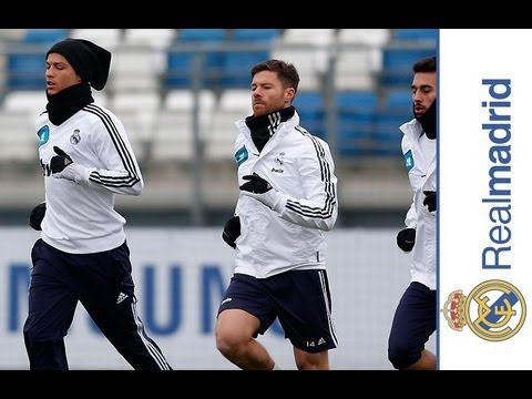 Last training session before cup match against Celta 08/01/13