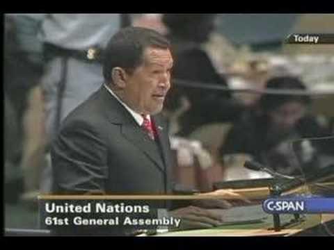 Hugo Chavez at the UN - part 1