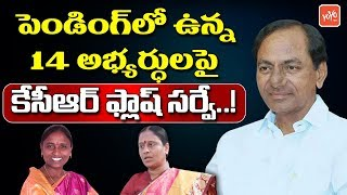 CM KCR Flash Survey on 14 Pending TRS MLA Candidate | Telangana | Konda Surekha |   | YOYOTV Channel