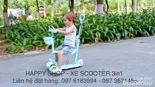 Xe SCOOTER 3in1 (xe đẩy, xe chòi chân, xe trượt trong 1 sản phẩm)
