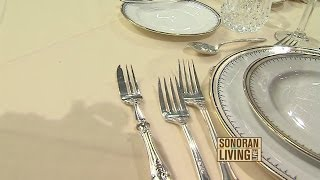 Etiquette expert teaches how to have good table manners while dining at a restaurant
