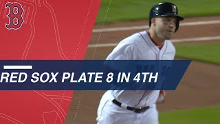 Red Sox score 8 in 4th inning en route to 15-7 win
