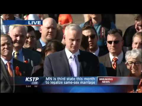 RAW VIDEO: Gov. Signs Gay Marriage BIll into Law