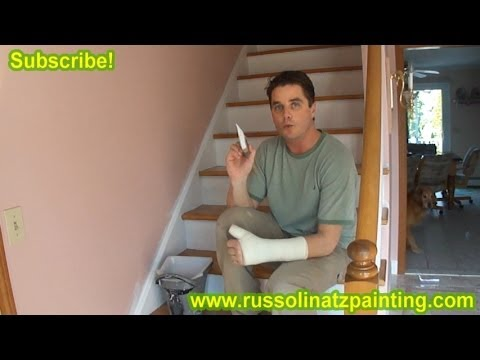 DIY Refinish & Paint Hardwood Stairs that were Carpeted, Stained, Varnished (Part 5) Ben Moore