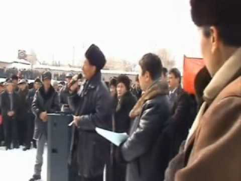Protest in Naryn #freekg March 10.wmv