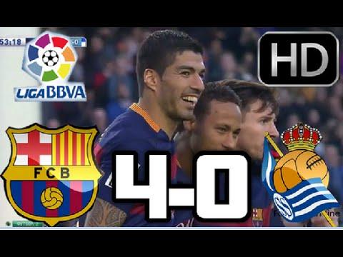 Barcelona 4-0 Real Sociedad| RESUMEN Y GOLES HD| LIGA BBVA| 28-11-15