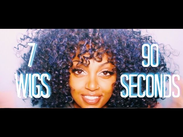 7 WIGS IN 90 SECONDS!