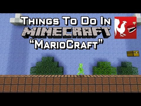 Estágio 1-1 de super mario bros no minecraft