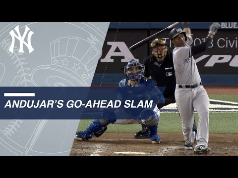 Miguel Andujar puts Yanks ahead with first career grand slam