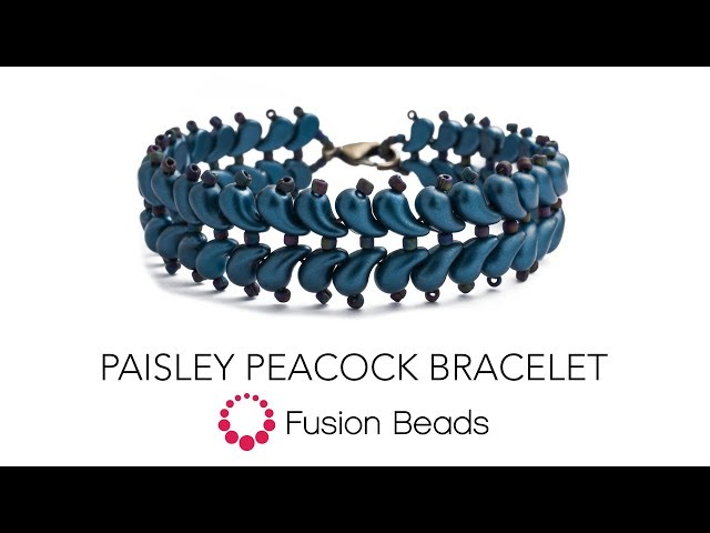 Tutorial on how to make the Paisley Peacock Bracelet by Fusion Beads