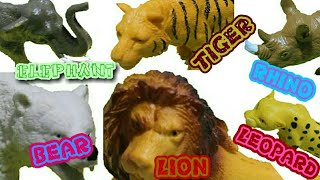 Wild Animal Kids Toys with Learning, Sounds & Fight