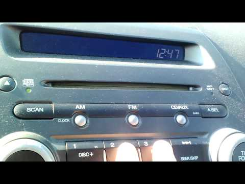 How to Change Honda 2006 Civic LX Clock on Dashboard