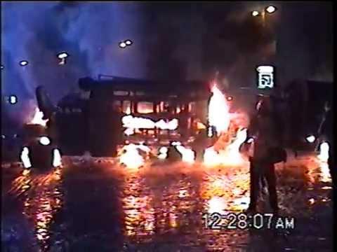 VIOLENT KIEV MAIDAN PROTESTS Jan 19 Hrushevskogo St.
