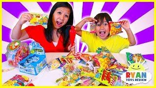 Japanese Snacks and Candy taste test with Ryan!!!